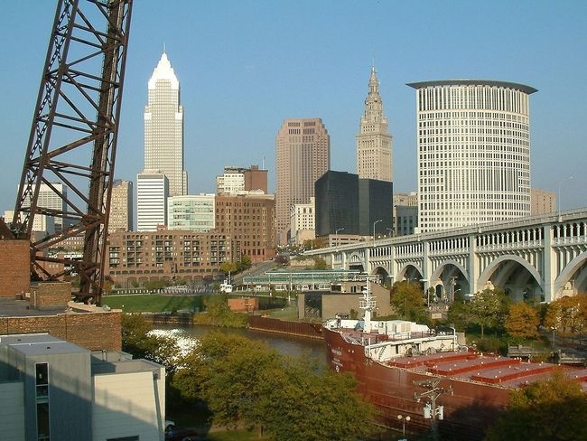 "Cleveland, Ohio ranked as the ""most economically distressed"" city in the United States. Image via wikipedia.com"