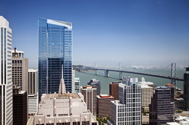 The Millennium Tower does the twist. Image: sfproperties.com