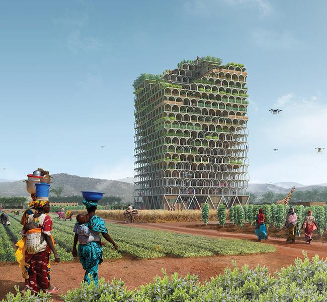 "First place: ""Mashambas Skyscraper"" by Pawel Lipiński and Mateusz Frankowski from Poland."