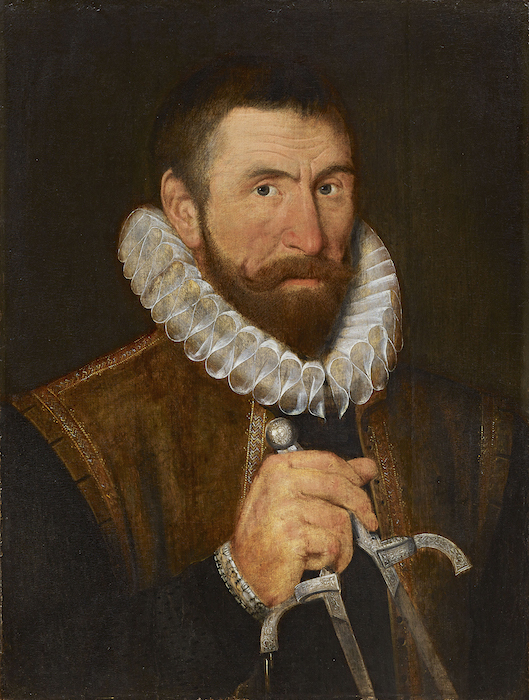Ralph Simons (Symons), c. 1595, artist unknown. National Portrait Gallery, London