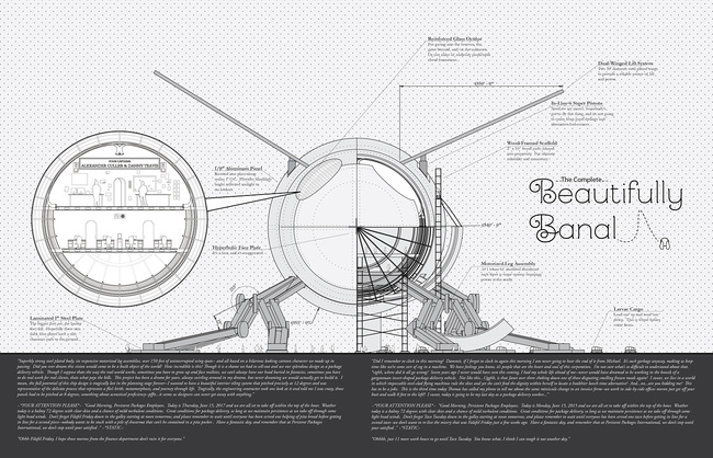 """Initial cover art concept of """"Beautifully Banal"""" by Alexander Culler and Danny Travis."""