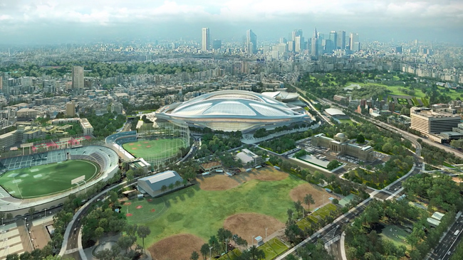"Screenshot from ZHA's ""New National Stadium Video Presentation""."