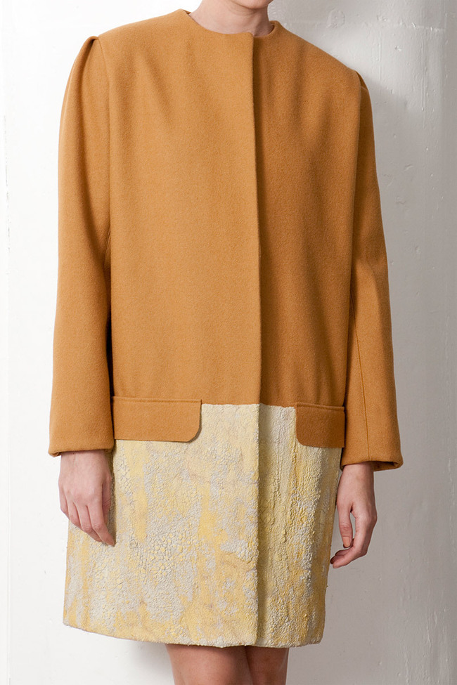 Fall_Winter 2011 Collection  felted wool coat dipped in concrete.