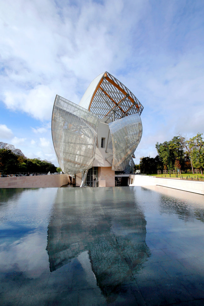 Frank Gehry's new Louis Vuitton Foundation museum on the western edge of Paris. Credit Christophe Ena/Associated Press