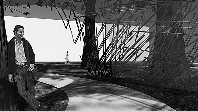 Rendering: Slipstream Pavilion