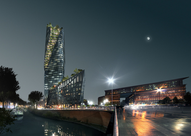 Occitanie Tower, Toulouse. Rendering by LUXIGON.