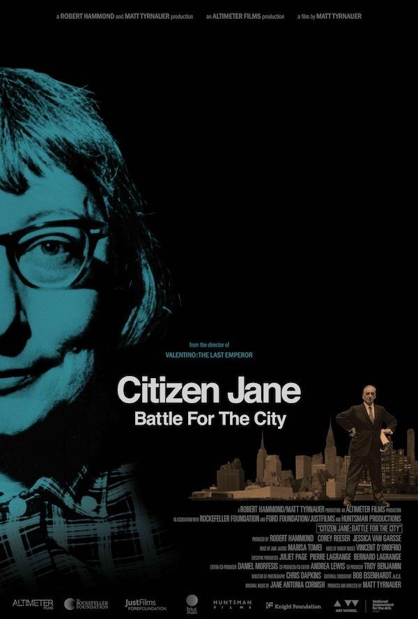 """""""Citizen Jane: Battle for the City"""". Poster via altimeterfilms.com."""