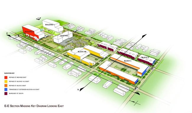 Renderings of the Perez plan for Holy Cross in the Lower Ninth Ward. (Courtesy Perez Architects, APC)