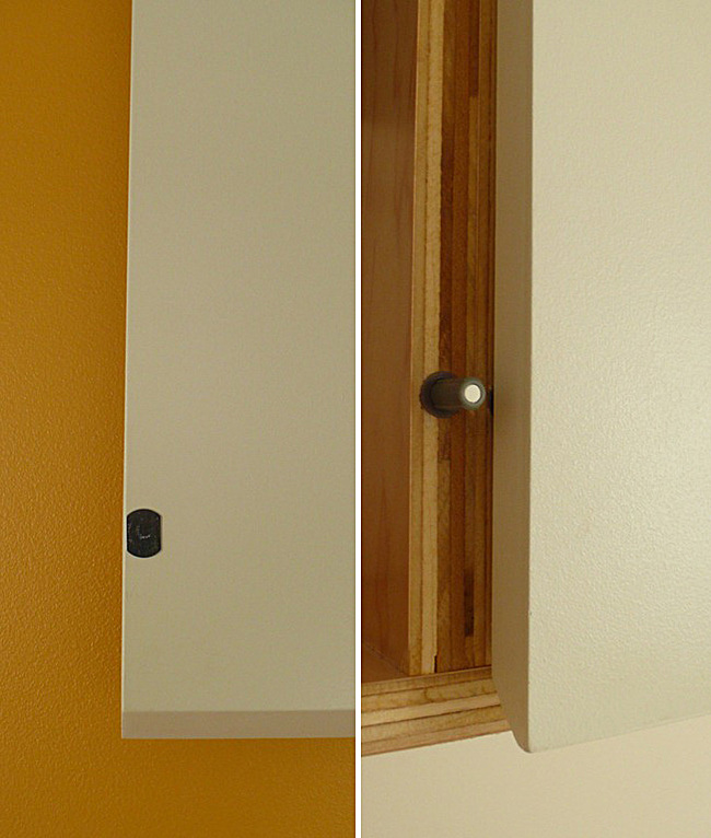 Beveled Cabinet edge and Spring