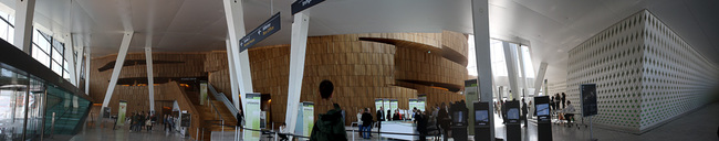 Oslo Opera House from the interior