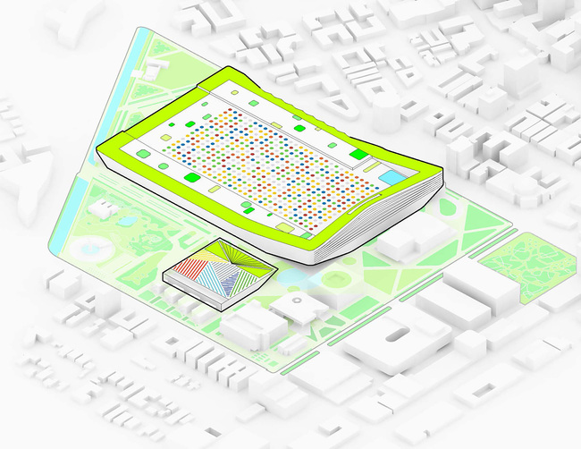 Miami Beach Square, diagram (Image courtesy of BIG)