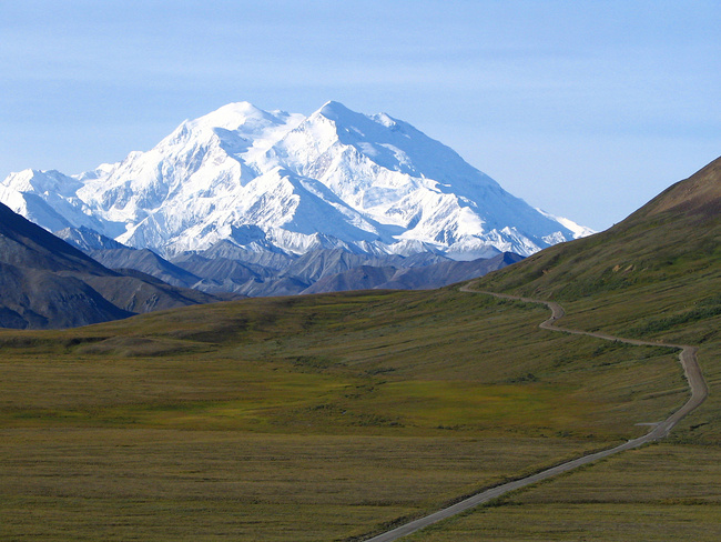 Denali, formerly known as Mt. McKinley, is the highest peak in the US. Credit: Wikipedia