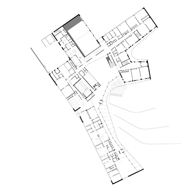 Plan 1st (main) floor (Image courtesy of Verstas Architects)