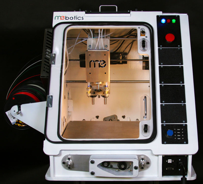 "Front view of the Microfactory, described as ""the world's first Machine Shop in a Box"". Image from Microfactory Kickstarter"