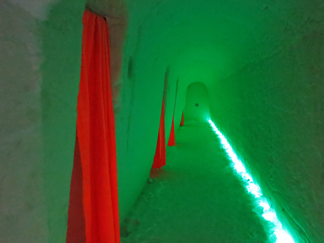 Typical hallway of Ice Hotel outside Rovaniemi: not worth the cost!