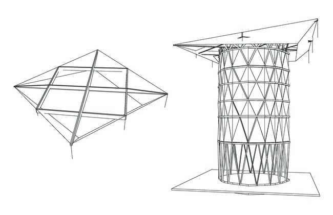 The Roof structure and the core
