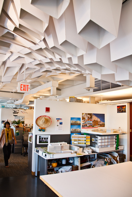 ceiling installation designed with generative modeling via Jay Young