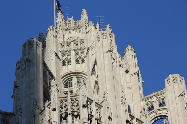 Soon someone's penthouse? – Crown detail of the iconic 1925 Chicago Tribune Tower. (Photo: Chicago Architecture Today's Flickr)