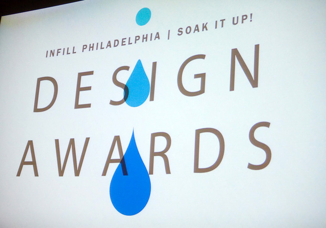 Infill Philadelphia: Soak It Up Design Awards drew a near capacity crowd to the Academy of Natural Sciences to look at innovative and implementable designs for green rainwater management © CG Lawrence Photography (Gregory Clarke)