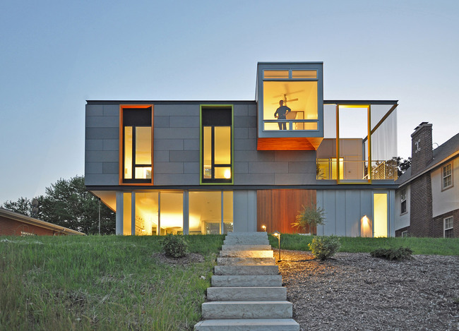 OS House; Racine, WI by Johnsen Schmaling Architects (Photo: John J. Macaulay)