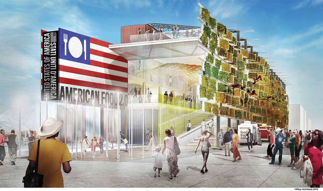 """American Food 2.0: United to Feed the Planet"", designed by Biber Architects for the Milan Expo 2015. Image © Biber Architects"