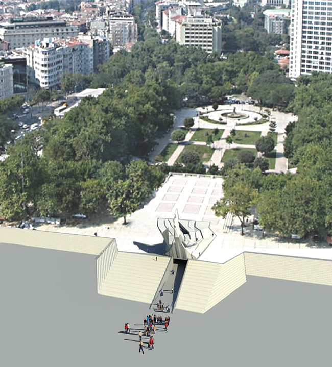 Gezi Park Monument on Taksim Square by Studio Vural