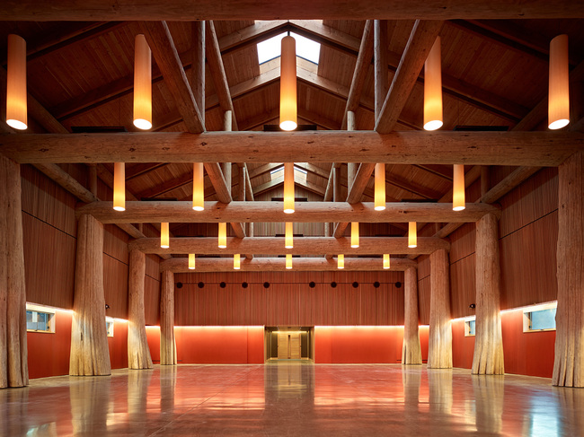 Traditional Use of Wood: Muckleshoot Smokehouse in Auburn, WA. Architect – Mahlum. Photo courtesy of WoodWorks