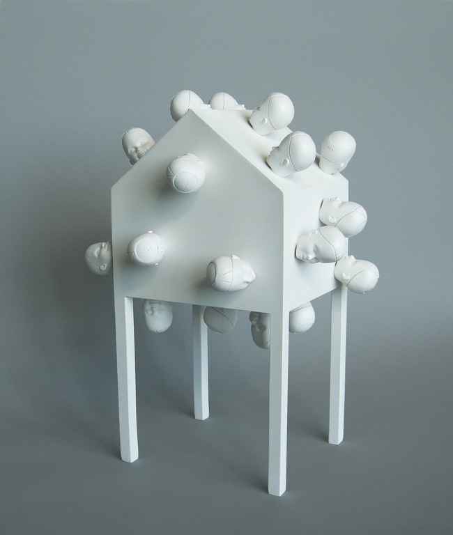 The House As A Metaphor- (Heads Of The House) by Michael Jantzen