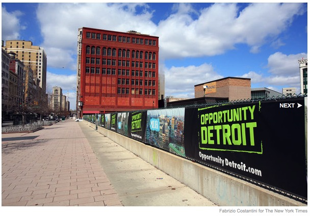 Mr. Gilbert has branded his real estate push Opportunity Detroit