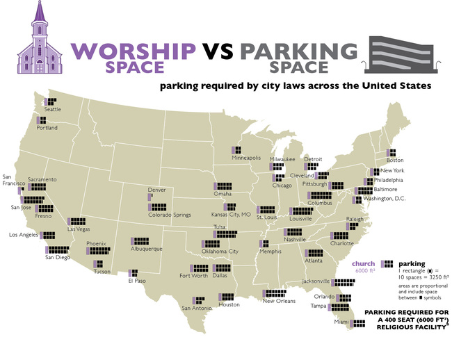 Parking for Places of Worship, courtesy of Graphing Parking.