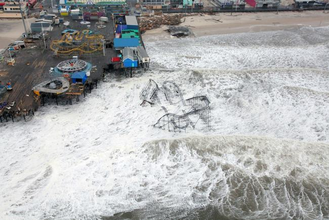 Events like Hurricane Sandy may become the new norm, according to research that shows a marked increase in the frequency of major flooding in the New York region. Credit: Wikipedia