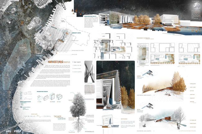Winning project in the category Architectural Design: HARVEST(IN)Gowanus by Amanda Gann (student); Knoxville, Tennessee