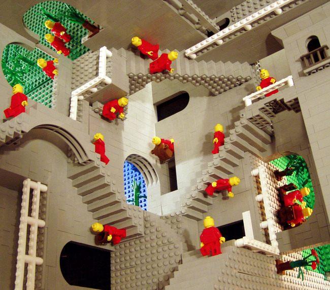 "Photo of ""Escher's ""Relativity"" in LEGO® "" by A. Lipson"