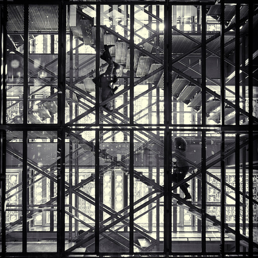 Ascending and Descending, Stairway to Heaven (L'Institut du Monde Arabe, Paris 2011)  Simon Gardiner