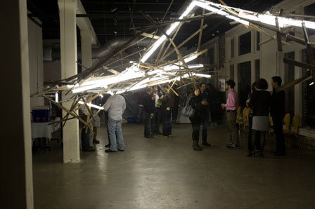 Orogenous Zones by Christophe Gauspohl and Mario Schambon (photo of 2009 DesCours installation)