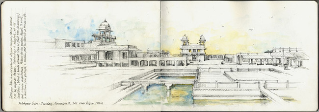 Best in Category - Travel Sketch: Stephanie Bower, STEPHANIE BOWER, ARCHITECTURAL ILLUSTRATION