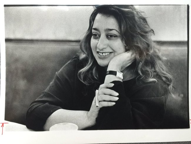 Zaha Hadid, 1950-2016. Photo: twitter
