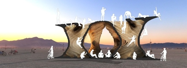 "Joshua Potter's proposed Burning Man installation ""PURSUIT."" Image: Joshua Potter"