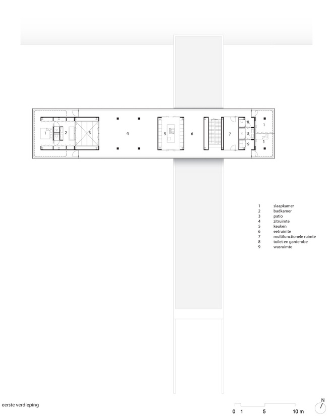 Floor plan, first floor. Image courtesy of Paul de Ruiter Architects