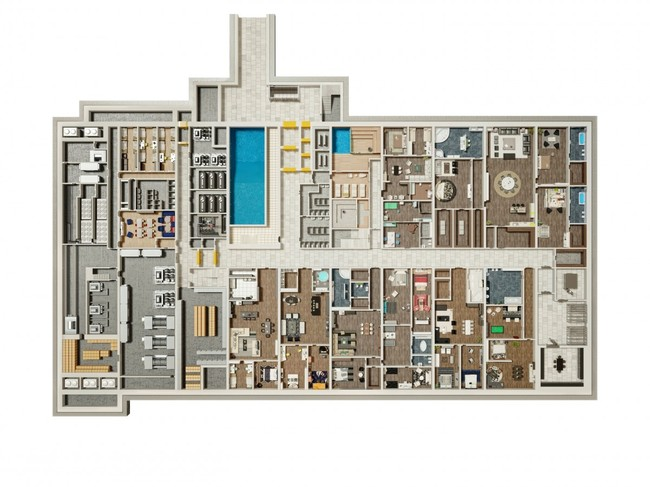 Surviving in style the world 39 s largest private doomsday for Wine cellar floor plans