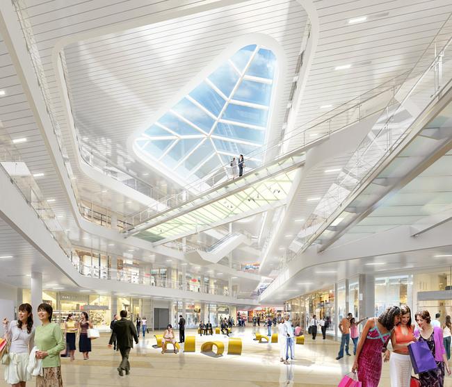 Interior view of the atrium (Image: SOM)