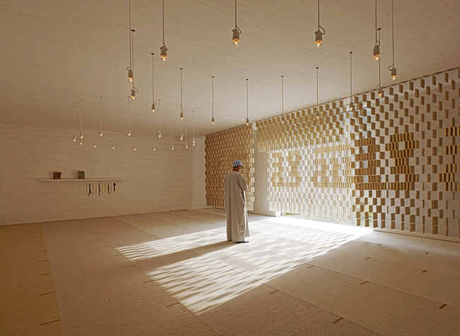 Islamic Cemetery: Prayer room. Photo: AKAA / Marc Lins