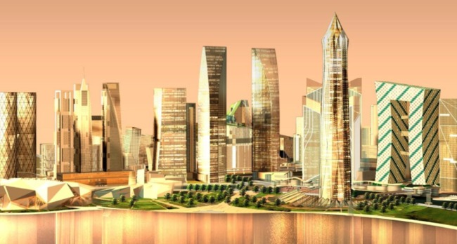 The Gujarat International Financial Tec-City (Gift City) is being touted as a model for India's 'smart' urban future, but many critics contend that such projects will exacerbate social inequity. Credit: Gujarat International Financial Tec-City