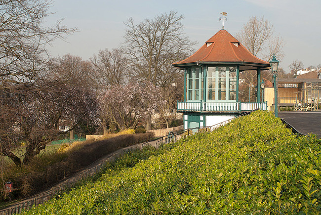 The refurbished bandstand with new acoustic glazing (Photo: Michael Harding)