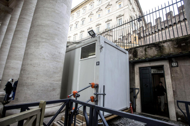 The Vatican recently opened free public bathing facilities in St. Peter's Square. Credit: EPA via the NY Post