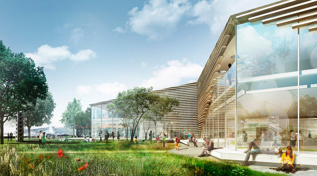 Rendering of the new Karlshamn Cultural Center and Library (Image: schmidt hammer lassen architects)