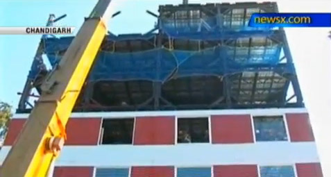 Chandigarh: 10-storey building in 48 hours - NewsX