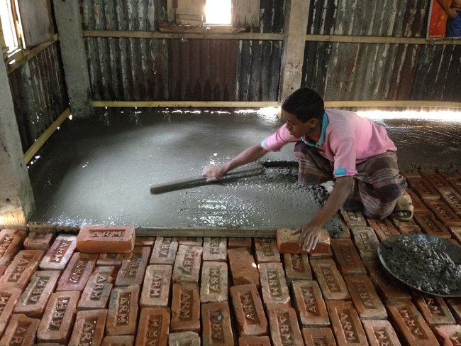 How concrete floors can prevent child deaths in bangladesh for How to build a garage floor
