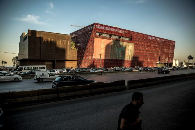 The Aishti Foundation, which shares a building with a large retail space for luxury brands, was designed by the architect David Adjaye. Credit Bryan Denton for The New York Times