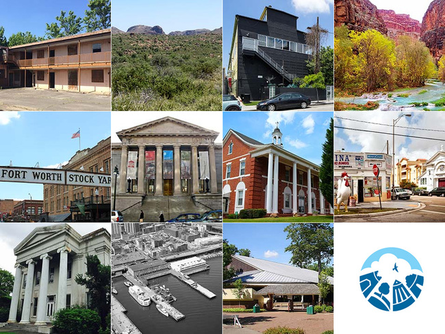 11 historic sites that the National Trust for Historic Preservation included on its 2015 List of America's Most Endangered Historic Places. (Images via preservationnation.org)